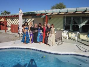 Jewels of the Desert enjoying some sun by the pool